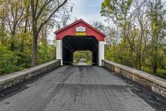 Van Sandt Covered Bridge imagem de stock royalty free