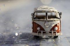 Van sous la pluie Photo libre de droits