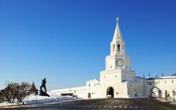 Van Spasskaya (Verlosser) de Toren van Kazan het Kremlin Stock Fotografie