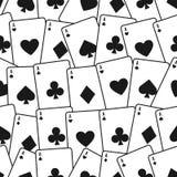 Van speelkaarten naadloos patroon als achtergrond Royalty-vrije Stock Afbeeldingen