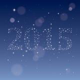 2015 van sterren Stock Afbeelding