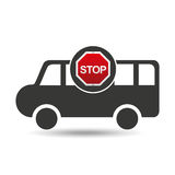 Van stop road sign design Royalty Free Stock Photography