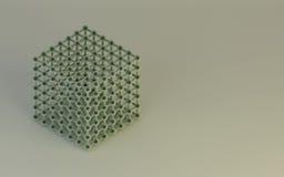 Van Structure van de wetenschapsmolecule Modelsamenvatting als achtergrond Stock Foto