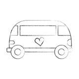 Van style εικονίδιο χίπηδων Στοκ φωτογραφία με δικαίωμα ελεύθερης χρήσης