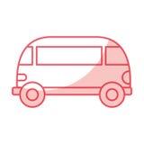 Van style εικονίδιο χίπηδων Στοκ Εικόνες