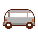 Van style εικονίδιο χίπηδων Στοκ Εικόνα