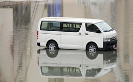 A van submerged in water  at Bahrain Stock Photography