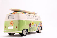 Van with a surf board Royalty Free Stock Images
