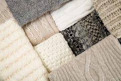Van sweaterstexrures dichte omhooggaand als achtergrond royalty-vrije stock afbeeldingen