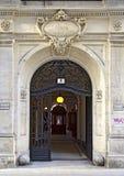 Van Swieten building at Vienna. Entrance door and passage of the Van Swieten building at Vienna, Austria Stock Photo