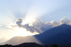 Van Tahtalı (Tahtali) de berg bij zonsondergang (Turkije) Stock Afbeeldingen