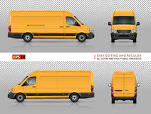 Van template jaune Images libres de droits