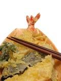 Van Tempura en eetstokje-knippende weg Royalty-vrije Stock Foto's