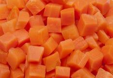 van textuur van gehakte wortel in vierkanten royalty-vrije stock afbeeldingen