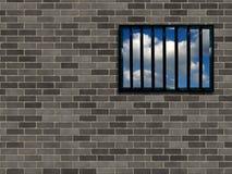 Van tralies voorzien gevangenisvenster vector illustratie