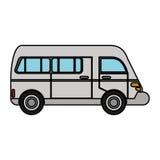 Van transport vehicle urban Royalty Free Stock Image