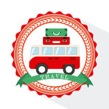 Van travel Royalty Free Stock Image