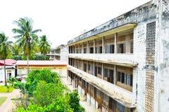 Van Tuolsleng (S21) de Gevangenis, Phnom Penh Stock Fotografie