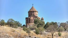 Van Turcja, Wrzesień, - 30, 2013: Katedra Święty Przecinający Akdamar Kilisesi na Akdamar Aghtamar wyspie Fotografia Stock