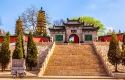 Van tweelingenpagoden (Yongzuo) de Tempel van Tai-Yuan royalty-vrije stock fotografie