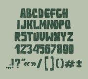 Van typeletters, getallen en leestekens Hand Stock Afbeeldingen