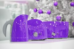 Van ultraviolette de opslag huistoestellen bij Kerstmis Royalty-vrije Stock Foto