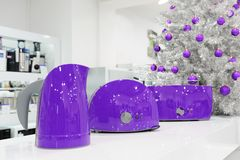 Van ultraviolette de opslag huistoestellen bij Kerstmis Stock Afbeeldingen
