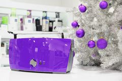 Van ultraviolette de opslag huistoestellen bij Kerstmis Stock Afbeelding