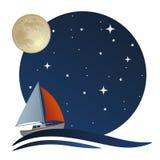 Van vaagheid in vaagheid op mijn zeilboot, is het leven mooi! Stock Foto