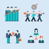 Van van bedrijfs mensenpictogrammen het Webmalplaatje mensensituaties Royalty-vrije Stock Afbeelding