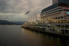 Van Vancouver, Canada van Brits Colombia Place bij schemer Stock Fotografie