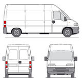 Van Vector Royalty Free Stock Photography