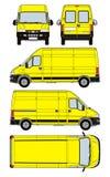 Van vector. Illustration of yellow black van vector with working path Royalty Free Stock Photo