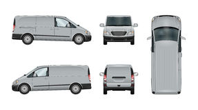 Van vector template Royalty Free Stock Images