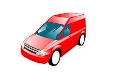 Van vermelho Foto de Stock Royalty Free