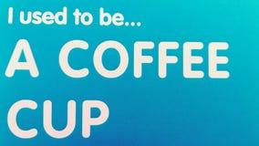 Van vid I är ett tecken för kaffekopp Arkivbild