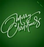 Van ?vrolijke Kerstmis? de hand het van letters voorzien (vector) Royalty-vrije Stock Foto's