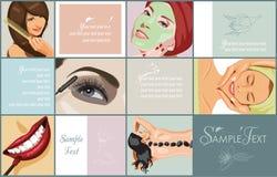 Van vrouwen de schoonheid en van het KUUROORD procedures stock illustratie