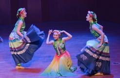 Van vulling-dans de volksdans dramaaxi sprong-Yi royalty-vrije stock foto's