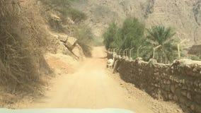 Van weg in Oman stock footage