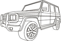 Van wegauto royalty-vrije illustratie