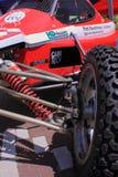 Van wegraceauto Stock Foto