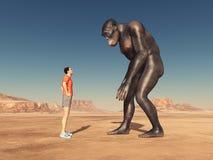 Van wereldreiziger en Homo habilis vector illustratie