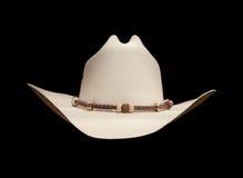 Van witte cowboyhoed Royalty-vrije Stock Foto's