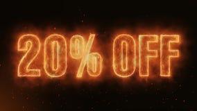 20% VAN Word die Realistische de Vonken ononderbroken foutloos lijn branden van Brandvlammen stock illustratie