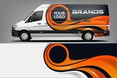 Free Van Wrap Livery Design. Eps 10.vector Stock Photography - 143650582