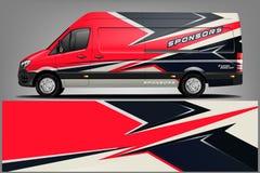 Van Wrap Livery design. eps 10.vector. Van Wrap Livery design. Ready print wrap design for Van. - Vector royalty free illustration