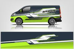 Van Wrap Livery design. eps 10.vector. Van Wrap Livery design. Ready print wrap design for Van. - Vector vector illustration