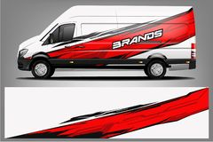 Van Wrap Livery design. Ready print wrap design for Van. - Vector royalty free illustration