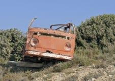 Van wreck abandonné Photo libre de droits